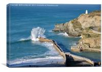 Portreath Harbour, Cornwall, Canvas Print