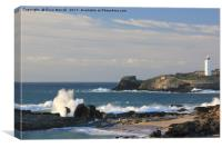 Godrevy Light House, St Ives Bay, Cornwall, Canvas Print