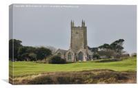 St Uny's Church, Lelant, Cornwall, Canvas Print