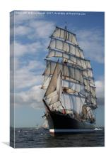 Russian Tall Ship STS Sedov Falmouth Race 2008, Canvas Print