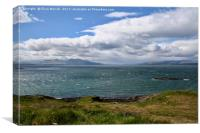 View of Firth of Lorne, Scotland, Canvas Print