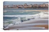 Douro River Beach, Canvas Print
