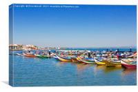 Aveiro Traditional Fishing Fleet, Canvas Print