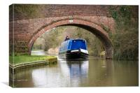 canal boat , Canvas Print