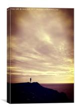 Pennard Cliffs sunset, Canvas Print