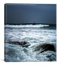 Coastal storm, Menorca, Canvas Print