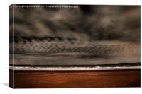 Dark clouds over Swansea Bay, Canvas Print