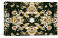 Kaleidoscope Daisies Pattern, Canvas Print