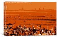 Swansea beach, Canvas Print