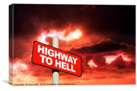 Highway to hell , Canvas Print