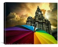 Stormy Liverpool, Canvas Print