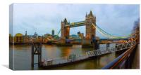 Tower Bridge Panorama, Canvas Print