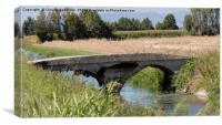 old bridge on river, Canvas Print