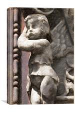 ancient cute cherub, Canvas Print