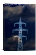 energy pylon, Canvas Print