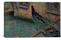 gondolas in Venice, Canvas Print