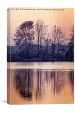 landscape lake at sunset , Canvas Print