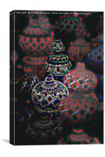 ceramic and decorated vase, Canvas Print