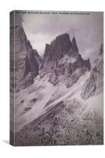 landscape rocky mountain, Canvas Print