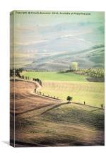 hilly landscape, Canvas Print