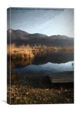 landscape lake, Canvas Print