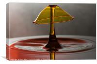 golden water drop, Canvas Print