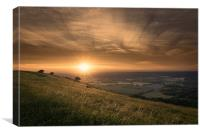 Ditchling Beacon Sunset, Canvas Print