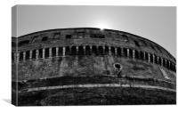 Castel Sant'Angelo Monochrome, Canvas Print