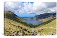 Wast Water From Scafell Pike, Canvas Print