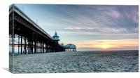 North Pier Sunset, Canvas Print