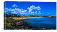 Costa Teguise Beach, Canvas Print