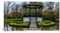 A Band Stand, Canvas Print