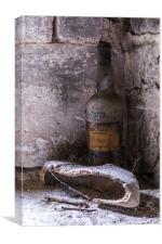 Old Wine Bottle, Canvas Print