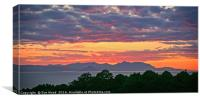 Sunset over Arran, Canvas Print