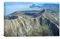 ARRAN FROM THE SKY, Canvas Print