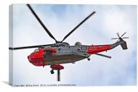 Royal Navy Sea King Helicopter ( retired), Canvas Print