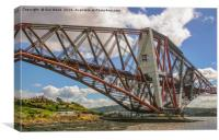 Restoration of the Forth Rail Bridge, Canvas Print