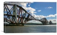 Scotland's Forth Rail Bridge under wraps, Canvas Print
