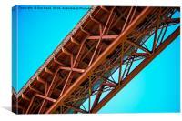 Iron girders of Scotland's Forth Rail Bridge, Canvas Print