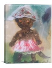 Cat in skirt , Canvas Print