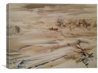Russian art - winter, Canvas Print