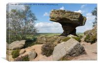 Druid's Table, Brimham Rocks near Harrogate, Canvas Print