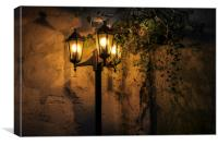 Romantic Lamp, Canvas Print