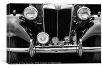 MG TD Sports car, Canvas Print