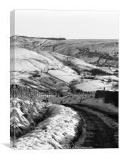 Snow on Marsh Lane, Canvas Print