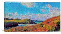 impressions of port quin, Canvas Print
