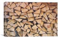Chop wood, Canvas Print