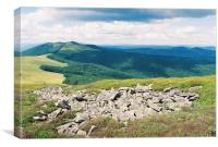 Mountain slopes in the Carpathians 2, Canvas Print