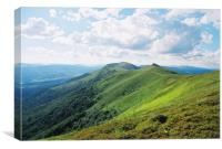 Mountain landscape in Carpathians, Canvas Print