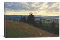 sunrise in Carpathian mountains, Canvas Print